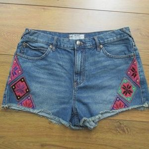 Free People Jean Shorts Size 29 Designed Shorties